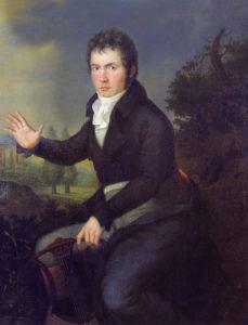 Ludwig van Beethoven (Porträt von Joseph Willibrord Mähler, 1805)