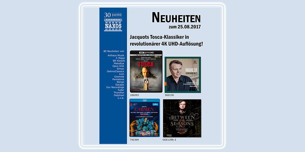 Neuheiten Vertrieb 20170821