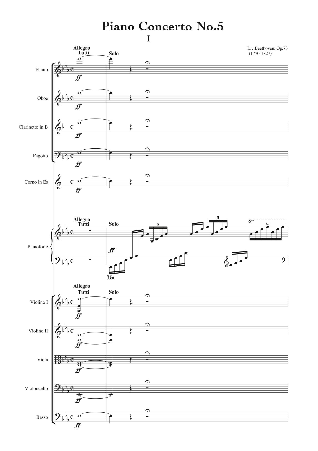 Beethoven Piano Concerto No. 5