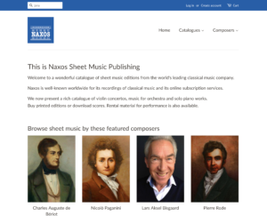 Naxos Publishing Startseite