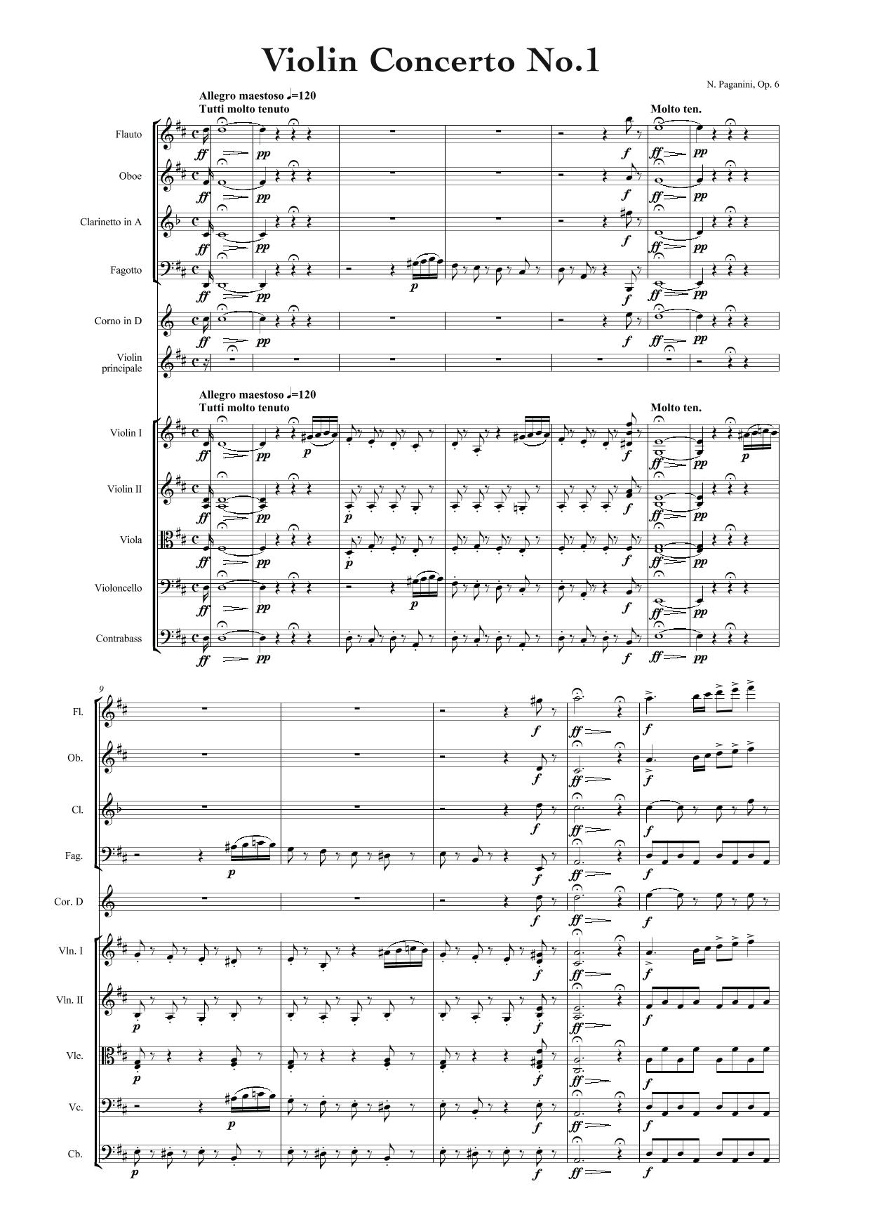 Paganini Violin Concerto No. 1
