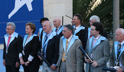 Conferment of the honorary doctorates in teh Rothenberg Amphitheater on Mount Scopus